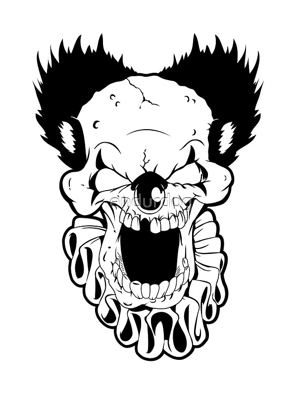 Quot Maniacal Skull Clown Quot Stickers By Endurdog Redbubble