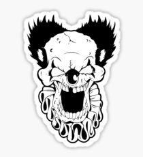 Maniacal Skull Clown Sticker