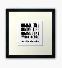 Fuel Metallica Funny Joke Humor Pun Framed Print