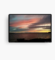 Sunset of rosé and gold Canvas Print