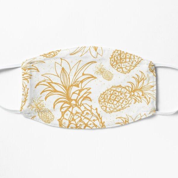 Golden pineapple pattern Flat Mask
