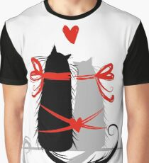 Couple of cats in love. Graphic T-Shirt