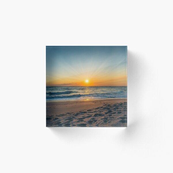 Cape Canaveral Florida Sunrise Acrylic Block