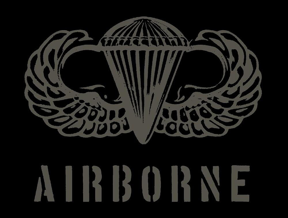 US airborne parawings - grey by wordwidesymbols