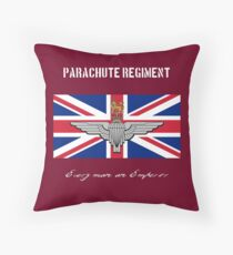 "Parachute Regiment (UK) ""Every Man An Emperor"" Throw Pillow"