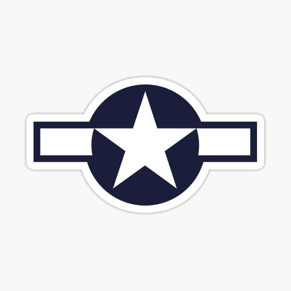 US Historical Roundel 1943-1947 Sticker
