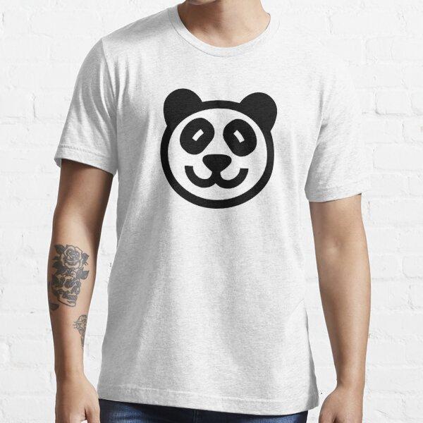 Cute Panda Icon - black on white Essential T-Shirt