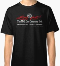 Mg Car Company Safety Fast England Classic T-Shirt