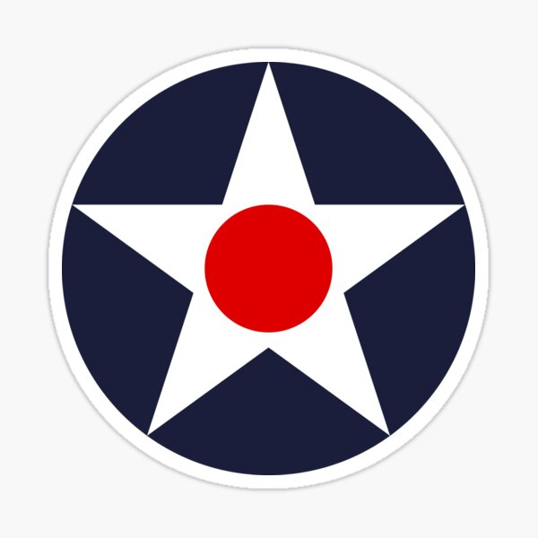 USAAC Historical Roundel 1919-1941 Sticker