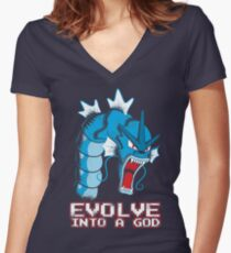Evolve into a GOD Women's Fitted V-Neck T-Shirt