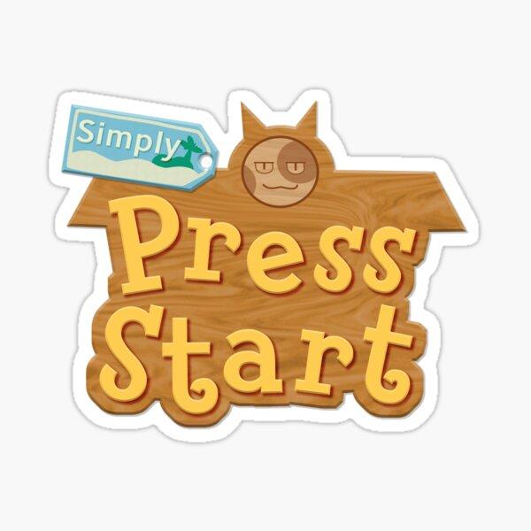 SimplyPressStart Logo  Sticker