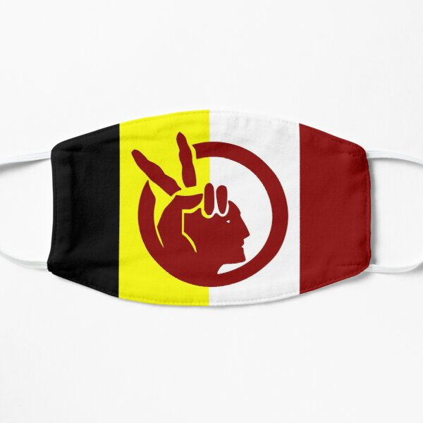 American Indian Movement Flag Flat Mask