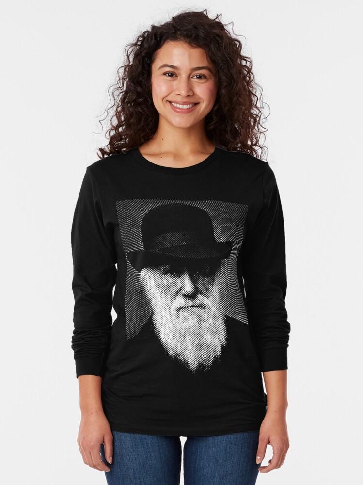 Alternate view of Charles Darwin Long Sleeve T-Shirt