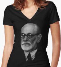 Sigmund  Freud Fitted V-Neck T-Shirt