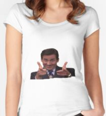 The Office: Michael Scott Pointing Women's Fitted Scoop T-Shirt