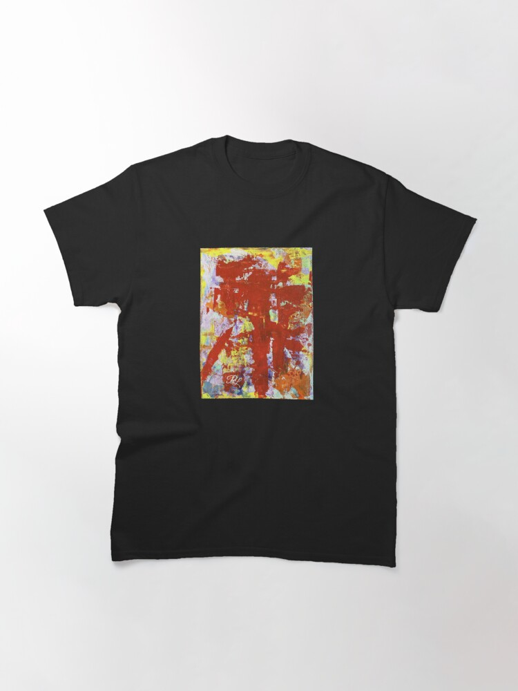 Alternate view of Yellow Abstract Classic T-Shirt
