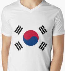 Living Korea Flag Men's V-Neck T-Shirt