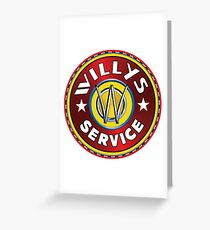 Willys Overland Corp Service sign Greeting Card
