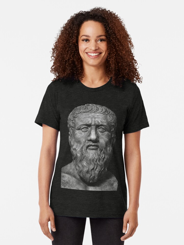 Alternate view of Plato  philosopher Tri-blend T-Shirt