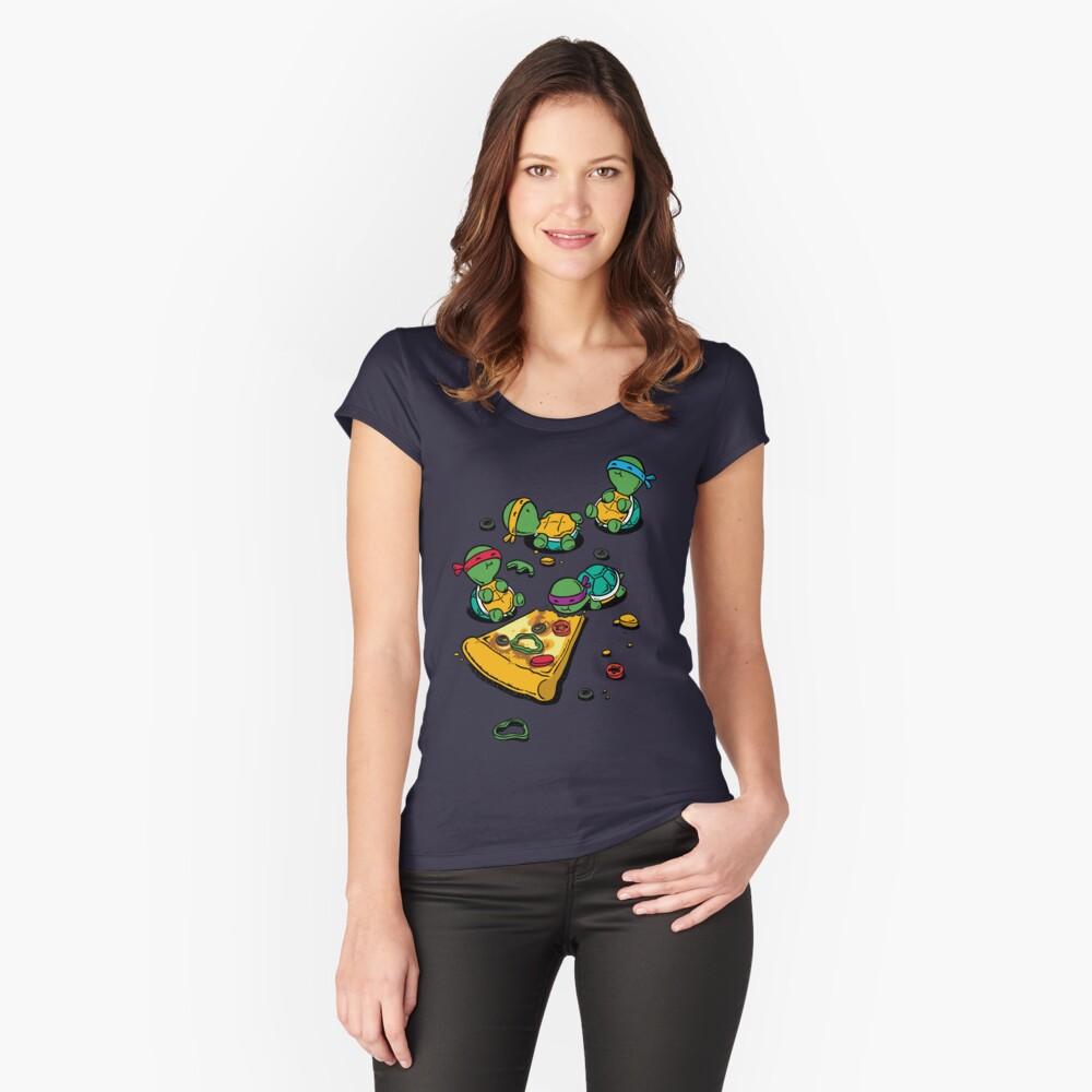 Amante de la pizza Camiseta entallada de cuello redondo