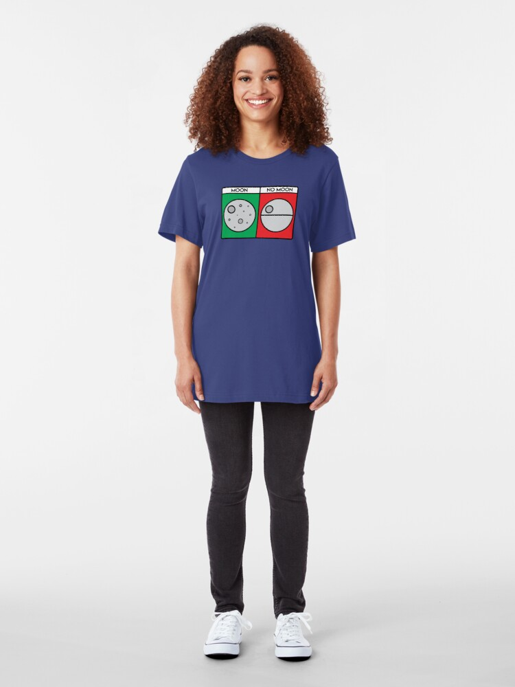 Alternate view of That's No Moon! Slim Fit T-Shirt