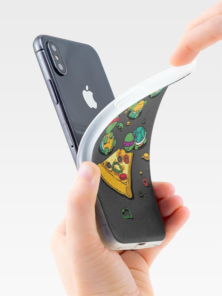 Coque iPhone ''Amateur de pizza': autre vue