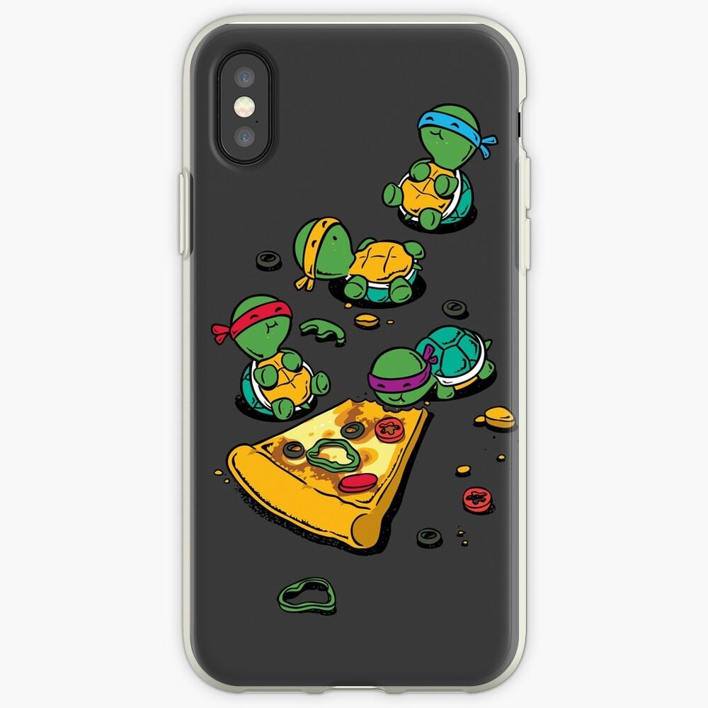 Coque iPhone «Amateur de pizza»