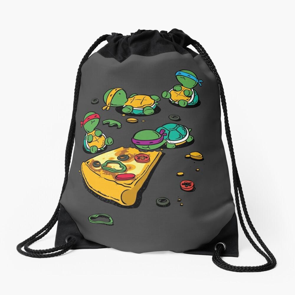 Amante de la pizza Mochila de cuerdas