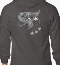 Eye of Horus (Tattoo Style Tee) Zipped Hoodie