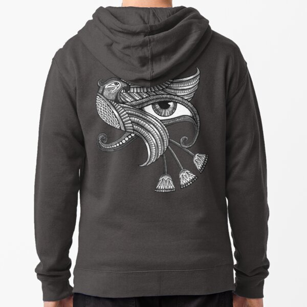 Eye of Horus (T-shirt de style tatouage) Veste zippée à capuche