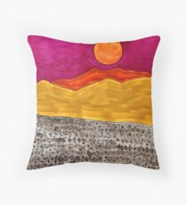 San Jacinto Moon original painting Throw Pillow
