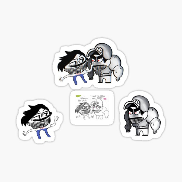 Ninjamuffin holds JohnnyUtah hostage in a twitter space at 3am Sticker