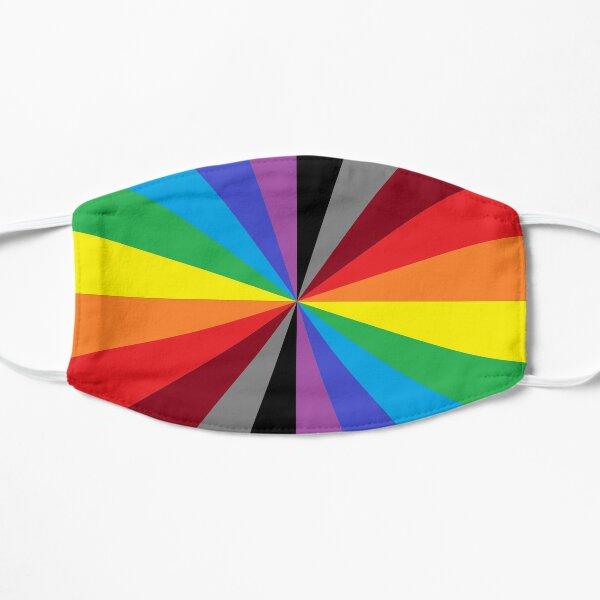 #Design, #abstract, #pattern, #illustration, psychedelic, vortex, modern, art, decoration Flat Mask