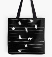 Faultier-Streifen Tote Bag