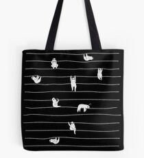 Sloth Stripe Tote Bag