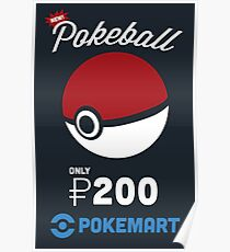 Pokemon Pokeball Pokemart Ad Poster
