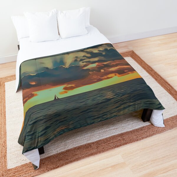 Sailing the Bright Horizon Comforter