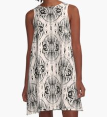 Patterns modern backgrounds Art Deco A-Line Dress