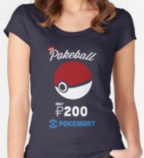 Pokemon Pokeball Pokemart Ad Women's Fitted Scoop T-Shirt