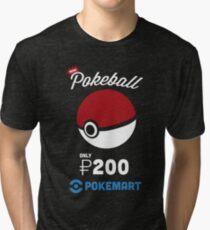 Pokemon Pokeball Pokemart Ad Tri-blend T-Shirt