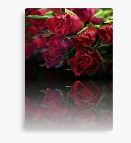 Bouquet of Swetheart Roses Canvas Print