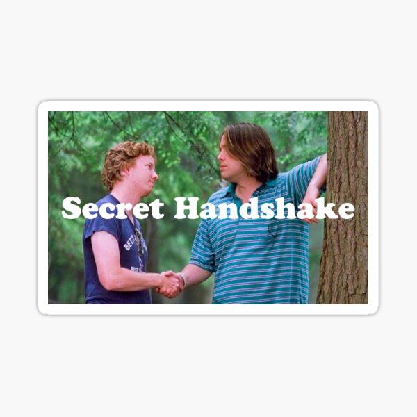 Wet Hot Secret Handshake Sticker