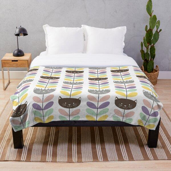 Orla kiely - cats Throw Blanket