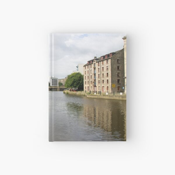 A View of Water of Leith Scotland Hardcover Journal