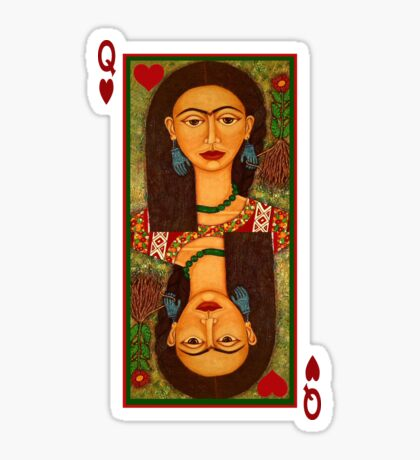 Frida Kahlo, queen of hearts  Sticker