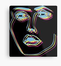 Tri-Colour Disclosure Face Metal Print