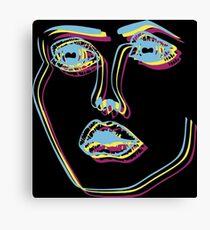 Tri-Colour Disclosure Face Canvas Print