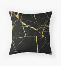 Cojín Luxe Black y Gold Marble