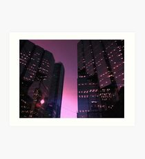 644049 Starlit high-rises Art Print