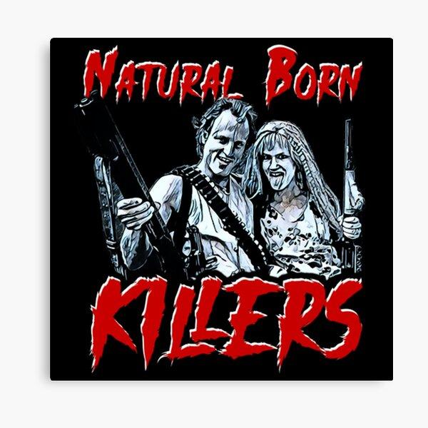 Natural born killers movie 1994 Poster print canvas movie print vintage born killer canvas print Illustration vintage poster home decor